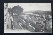 Carte postale ancienne CPA PAU - La Terrasse du Château et la Vallée du Gave