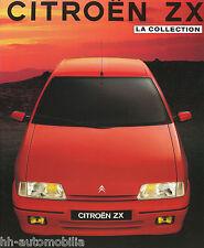 Citroën ZX Prospekt D 12/91 brochure 1991 Auto PKWs Frankreich Citroen Broschüre