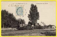 cpa RARE 44 LA BAULE La GARE TRAIN à Vapeur L' EXPRESS de PARIS en 1900 Railway