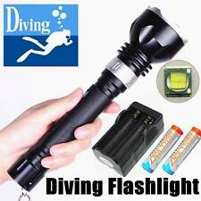 100M Underwater 1800LM CREE XM-L T6 LED Waterproof Diving Flashlight  + Charger