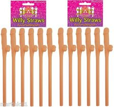 12 WILLY STRAWS SUCKING FUN HEN PARTY NIGHT DO ACCESSORIES COCK DRINKS REALISTIC
