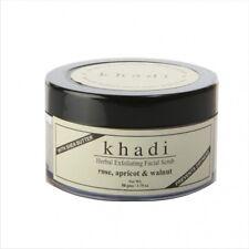 Khadi Herbal Exfoliating Facial Scrub Rose Apricot & Walnut 50gm (Natural Herbs)