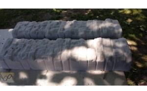 2pcs Concrete Border Edging Mold Edge Molds Stone Straight Plaster Cement Curbs