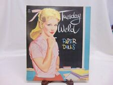 Vintage Original 1960 Uncut Authorized Tuesday Weld Paper Doll s - Saalfield