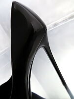 NEU HOHE LACK Schwarz Damen Classic O57 Pumps Schuhe Sexy High Heels Black 38