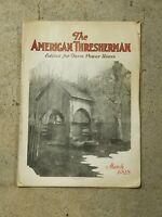 The AMERICAN THRESHERMAN Vintage Magazine Newspaper Mar 1928 Vol 30 No 11