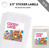 """12 Candyland Candy 2.5"""" Sticker Labels for Bag Treat Box Birthday Party Favor"""