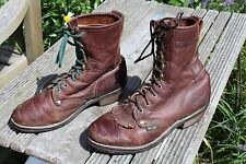 TALL BROWN LEATHER Ladies ROPER PACKER BOOTS 7 M