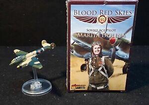 BLOOD RED SKIES Soviet Ace Pilot: Mariya Dolina set well painted plane