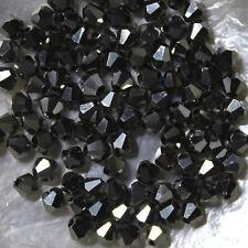 25 Perles Cristal -TOUPIES SWAROVSKI -  ARGENT  - 4 mm