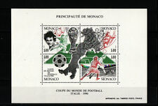Monaco  bloc   coupe du monde de football   Italie de 1990  num: 50 **