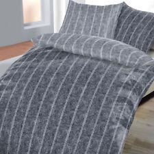 Bettwäsche Renforce 100% Baumwolle 135x200 Kissenbezug 80x80 Melange Grau Neu