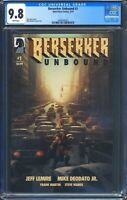 Berserker Unbound 1 (Dark Horse) CGC 9.8 White Pages Jeff Lemire 1 of 3 CGC 9.8s
