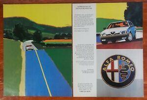 1991 White Alfa Romeo 164 Sedan Photo Robert Cunningham Car Art Vintage Print Ad