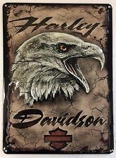 Ande Rooney HARLEY DAVIDSON EAGLE CARD Tin HD Motorcycle Garage Man Cave Sign