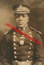 ANTIQUE VINTAGE AFRICAN AMERICAN SOLDIER? MASON? MEDAL CAPT DEWBERRY 1922 PHOTO