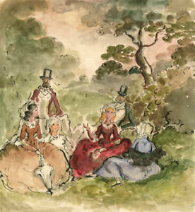 Harold Hope Read (1881-1959) - Watercolour, High Class Picnic