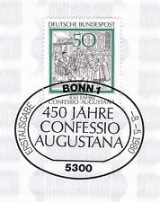 BRD 1980: Confessio Augustana nr 1051 con limpia bonner sello especial! 1a 1510