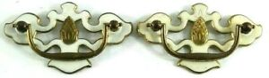 Metal Drawer Cabinet Handles Brass Bail Pull White Gold Pineapple Beach Tropical