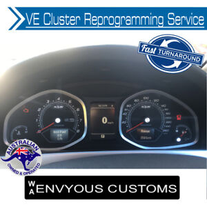 VE HOLDEN COMMODORE INSTRUMENT CLUSTER DASH PROGRAMMING SERVICE HSV VF E3 V6 V8