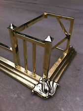 "Antique Art Nouveau Brass 54½"" Fireplace Fender Hearth Fire Guard (PK013)"