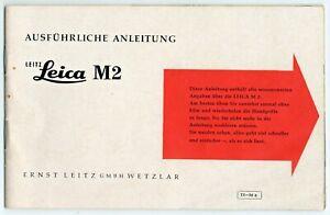 Leica M 2 Ausführliche Anleitung