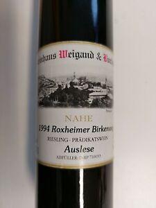 Rarität, Nahewein von 1994, Riesling Auslese 0,375 l
