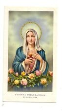 Madonna delle Lacrime di Siracusa   con preghiera (s405)