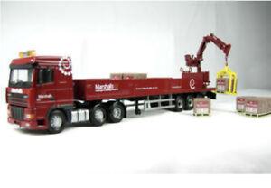 Corgi 1/50 Scale CC13235 - DAF XF Crane Trailer & Palleted Load - Marshalls Mint