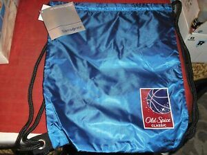 Old Spice Classic Basketball Drawstring Backpack/ Gym Sack by Samsonite NEW