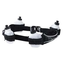 NIKE Lightweight Running Hydration Belt Include 4 Bottles , Black x White