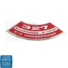 Chevrolet Cars Air Cleaner Cover Decal 327 Turbo Fire 210 HP DC0094