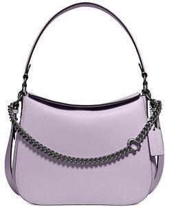 💚 Coach Crossbody Signature Chain Hobo Shoulder Bag Purse Handbag Soft Lilac