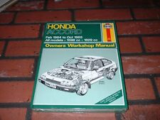 BRAND NEW & SEALED HAYNES MANUAL FOR HONDA ACCORD. 1984 TO 1985