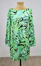 Lilly Pulitzer Dress Let's Go Bananas Silk Cotton Long Sleeve Large C2