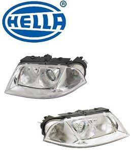 For Volkswagen Passat Set of Left & Right Headlights 01-05 OEM Hella