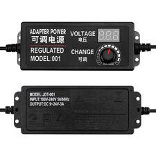 Adjustable Ac To Dc 3 12v 3 24v 9 24v Voltage Regulated Adapter Euus Plug