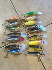 lot of 16 storm post rapala hot n tot fishing lures
