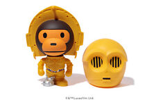 Authentic A Bathing Ape Bape x Star Wars Figure Baby Milo Vcd C3Po New Sale