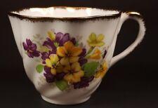 Salisbury Bone China England Tea Cup Purple & Yellow Floral Design #2291