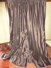 CHRIS MADDEN BROWN MYSTIQUE FAUX SILK (PAIR) THERMAL LINED DRAPERY PANELS 52X84