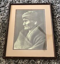 "Edward Sheriff Curtis ""Geronimo -Apache"" Framed Reproduction Print Photogravure"