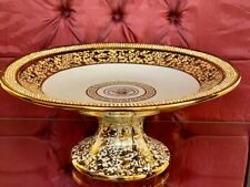 Tortenteller  Gold Luxus versac Mäander Medusa Fruit Bowl