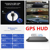 Universal Auto HUD GPS Head Up Digital Display Car Speedometer Speed Warning