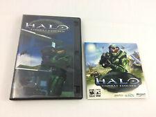 PC CD-ROM Halo Combat Evolved in Large Case w/ Manual, CD Key, & Slipcase - USED