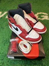2015 Nike Air Jordan 1 Retro High OG Chicago Size 9.5 Black Red White 555088-101