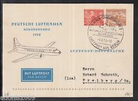 A 24 ) tolle  Karte 1954 - Deutsche Lufthansa Neugründung