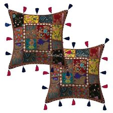 "Embroidered Abstract Sofa Cushion Cover Embroidered Pillow Case Cover 16"" Throw"