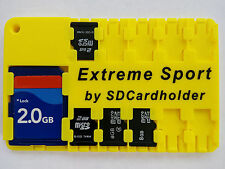 Yellow SD Card Holder Storage Wallet Case micro SD/SDHC/SDXC Drone -It Floats!