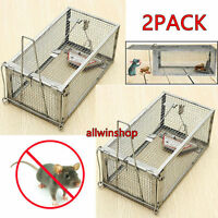 2X Sensetive Rodent Control Catch Rat Squirrel Cage Mouse Live Hunting Mice Trap